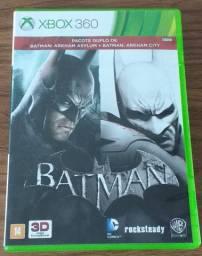 Batman Arkham Asylum + Arkham City Xbox 360 - em excelente estado