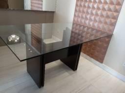 Vendo mesa com tampo de vidro