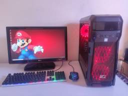 """PC Gamer i5 + GTX 1050Ti + 22"""" (Roda vários games)"""