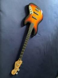 Jazz bass Fender Squier Deluxe  passivo 4c SB