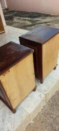 Criados-mudos ( mesa de cama lateral) em sucupira