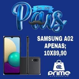 Oferta de dia dos Pais Samsung A02 ZERO com caixa e todos Acessórios