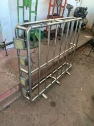 Rack de aço inox para pick-up com led