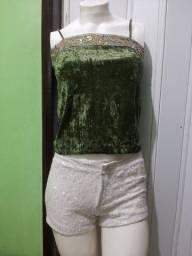 Blusa de camurça verde