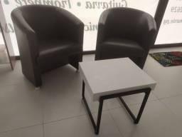 Mesa branco/preto