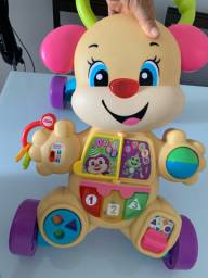 Andador fisher price cachorro rosa