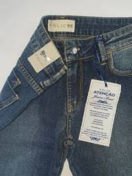 Calça jeans stretch folic.