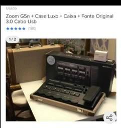 Pedaleira Zoom G5n + case etc