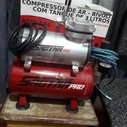 Compressor de ar bi-volt 3litros