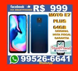 /\/\/\ Moto E7 Plus 64GB /\/\/\nota fiscal garantia _335lfue