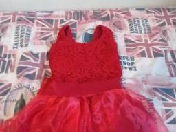 Vestido de festa 9 anos vermelho