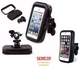 Suporte de celular impermeável p/ moto e bicicleta