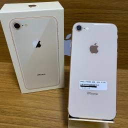 iPhone 8 Dourado 64gb - De vitrine estado de zero!