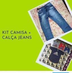 Kit camisa + Calça Jeans clim colld