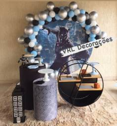 Locação Kit Mini Table decoração Pantera Negra