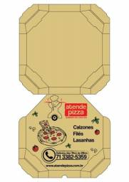 Caixa para pizza - papelão Kraft