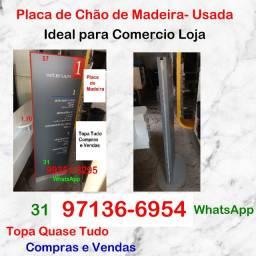Duas Placas de Chão de Madeira- Usada- Ideal para Comercio Loja- Barreiro BH