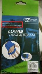 Par De Luvas Para Academia Azul Art Sport