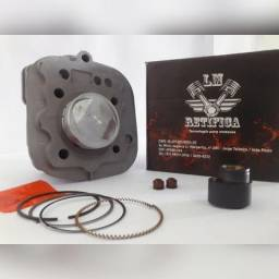 Kit Motor Titan125 99/(1mm) Com Ressalto Do Comando + Pistão
