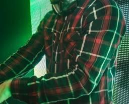 Camisa Xadrez - Preto e Vermelho - Lenhador