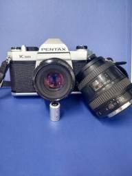 Pentax K1000 com 2 lentes