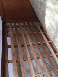 Cama solteiro em madeira 1x - sem colchão
