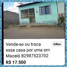 Vende-se ou troca essa casa que é localizada em União dos Palmares