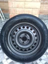 Aro 14 furacão 4/100 com pneu