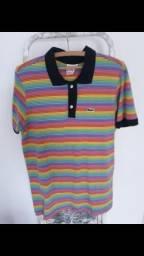 Camisa lacoste arcoiris e nike golf