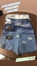 Short Jeans Lacoste e Reserva