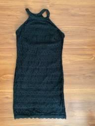 Vestido tubinho de renda + Brinde<br>-<br>Entrego