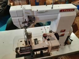 Maquina costurar tira tubo calçados