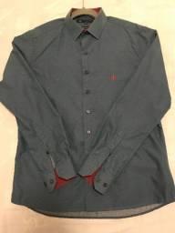 Camisa Dudalina M Cinza Vermelho - ótimo estado