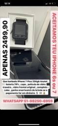 Mundicell iphone 7plus 256gb +brindes - anatel desbloqueado