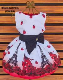 Vestido Ladybug Tenho tamanhos 4/6e8 anos