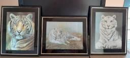 Conjunto de 3 quadros decorativos