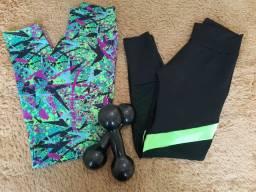 Calças e bermudas fitness novas