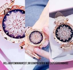 Relógio Rosa Chic com strass