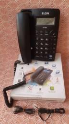 TELEFONE FIXO ZERADO com identificador de chamadas, horas e outras opções.