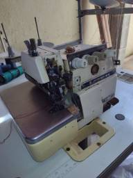 Máquina de costura overclock ponto cadeia
