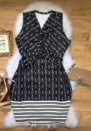 Vestido Tubinho Plus Size Estampado