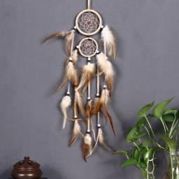 Filtro dos Sonhos Estilo Indiano com Argolas para Pendurar/ Decoração
