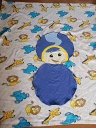 Almofada que vira cobertor 2 em 1