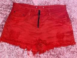 short vermelho - tam 42