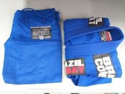 Kimono Brazil Combat - Azul (tamanho M1)