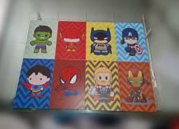 Kit Quadrinhos Decorativos Heróis(8 peças)