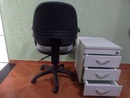 Cadeira giratória top + gaveteiro para sair logo