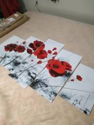 Moisaico flores vermelhas