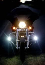 Título do anúncio: Farol Milha Led Auxiliar Neblina Moto Tipo Xênon 2 Lampadas<br><br>