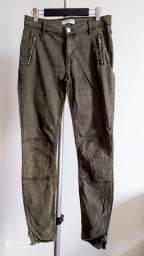 Calça Jeans - Verde Militar - Marca Zara Woman